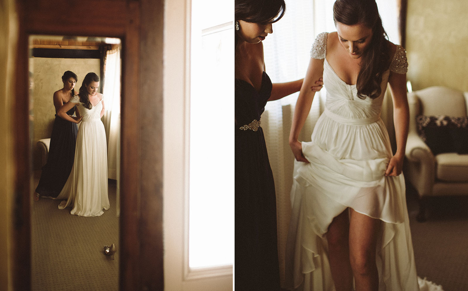 bride preparing photo