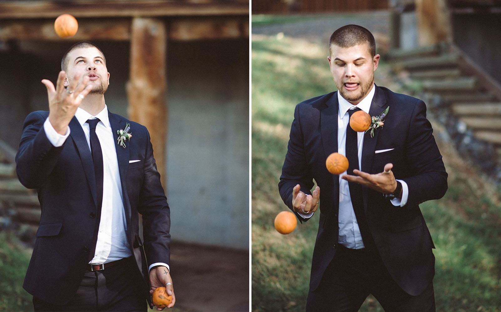 groomsman wedding photograph