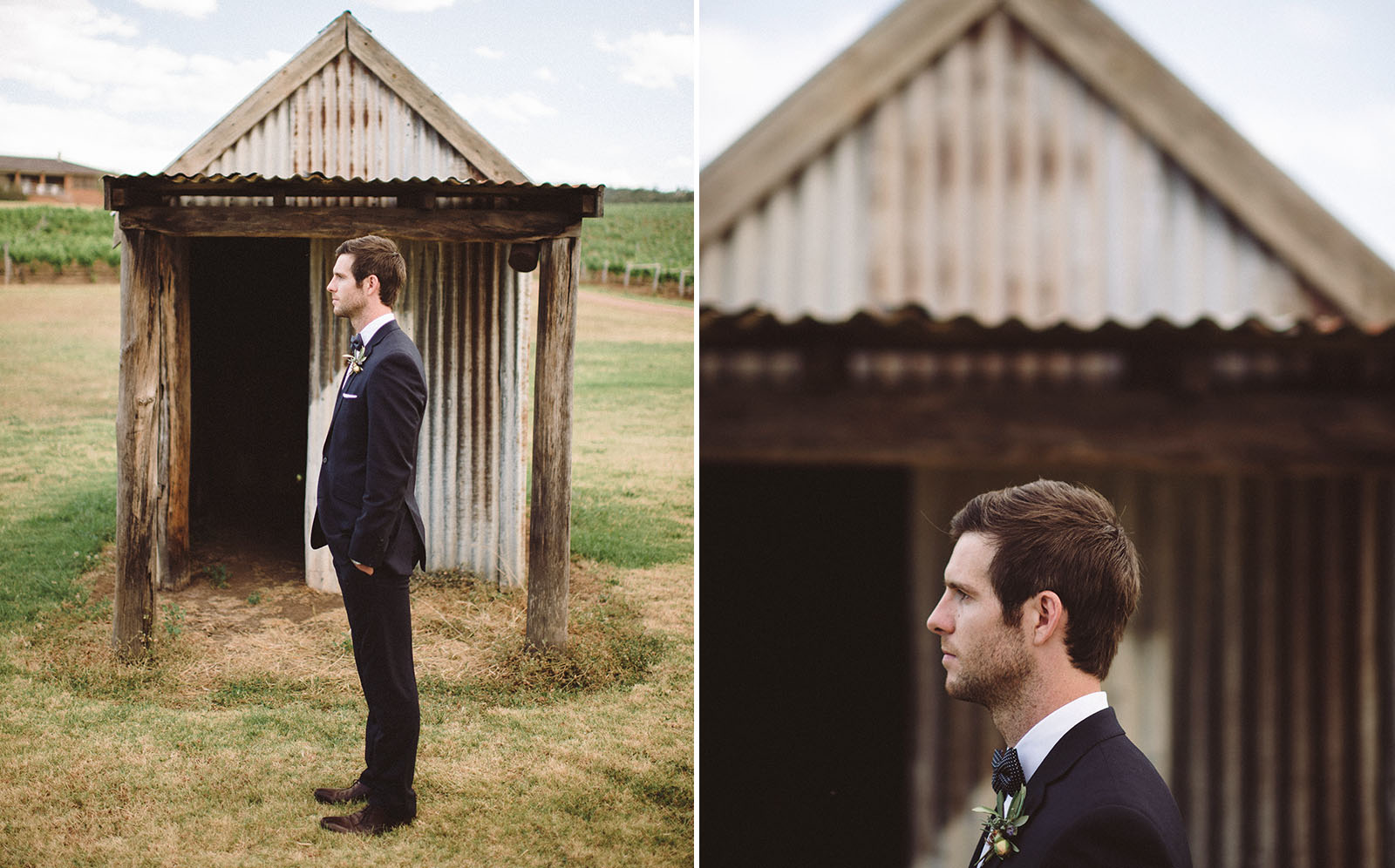 handsome groom wedding photograph