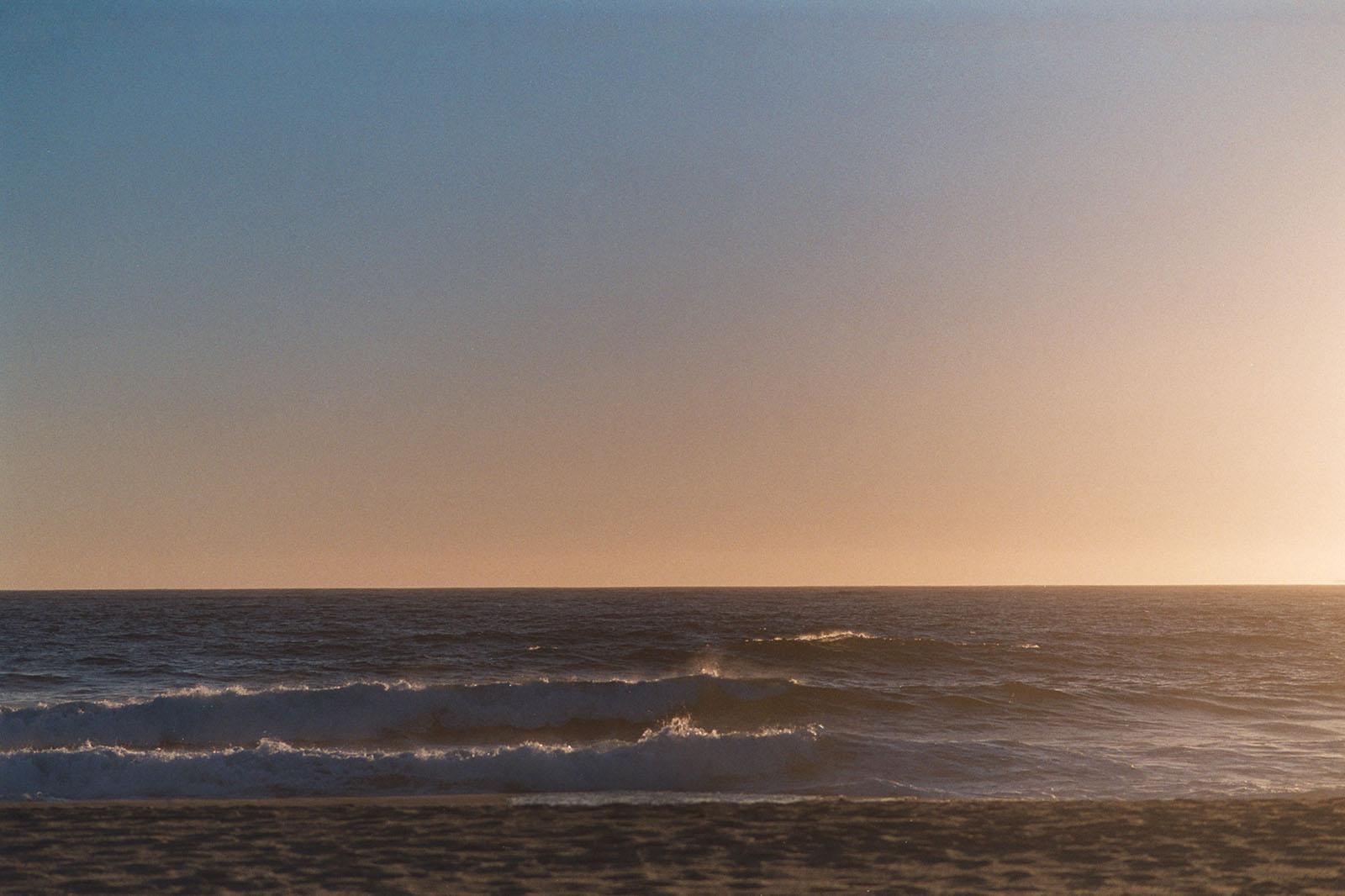 Pakon Scanner Budgewoi beach at sunrise on film
