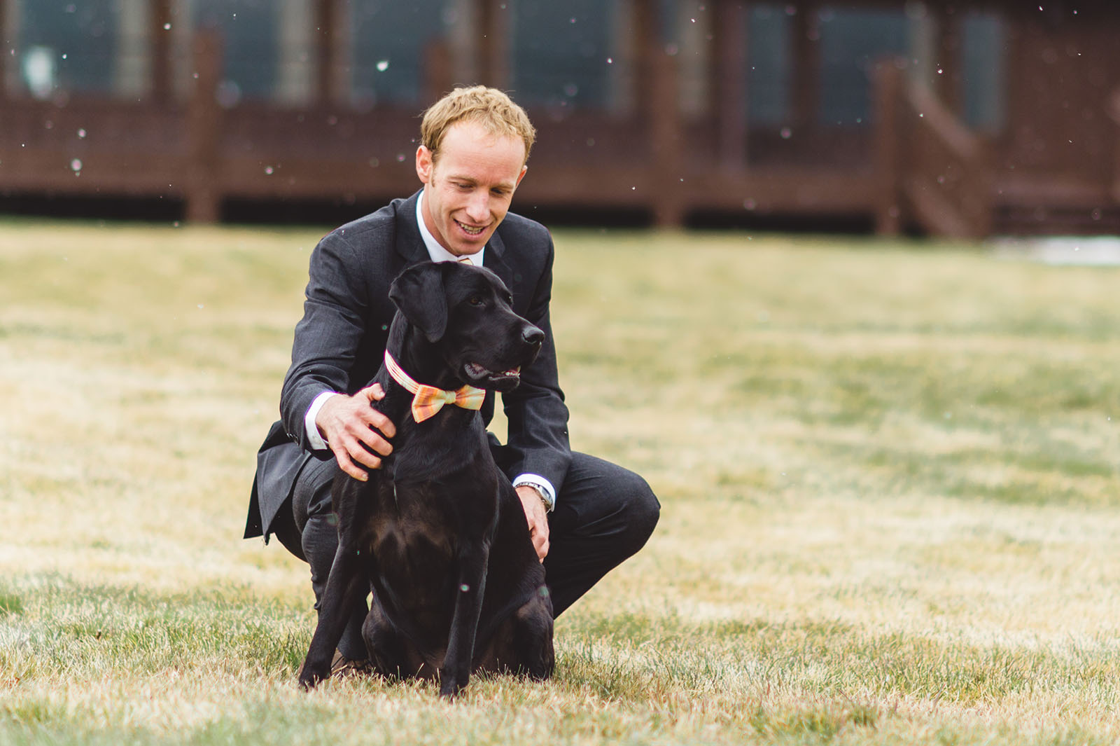 Colorado groom with dog