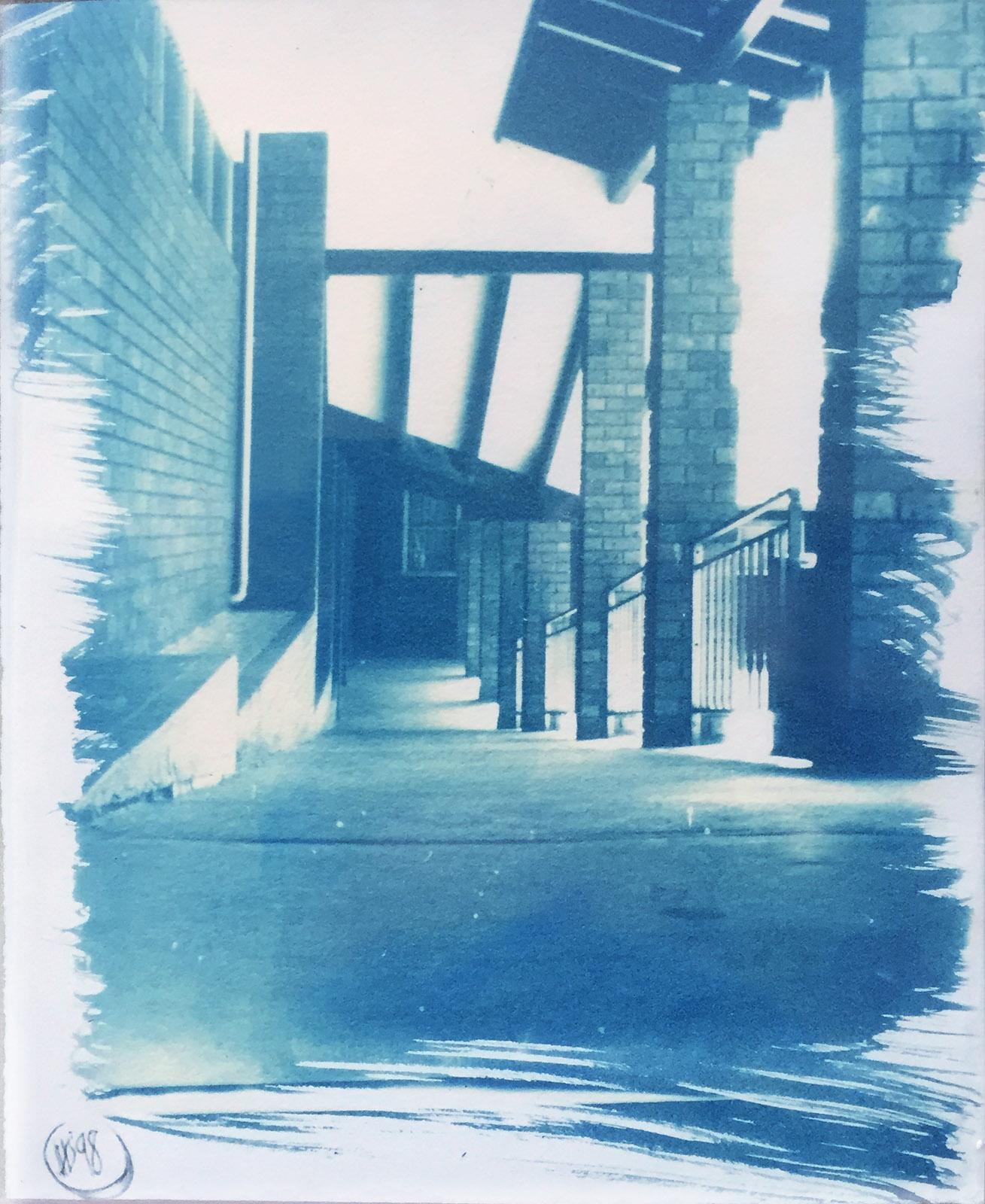 pinhole cyanotype 8x10